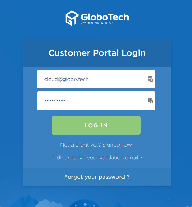 Customer Portal - GloboTech