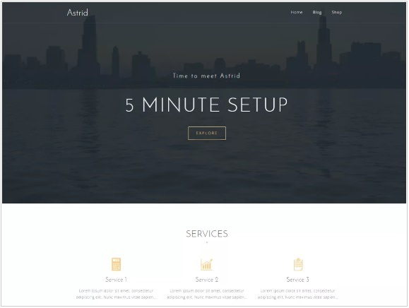 WordPress Themes: Astrid