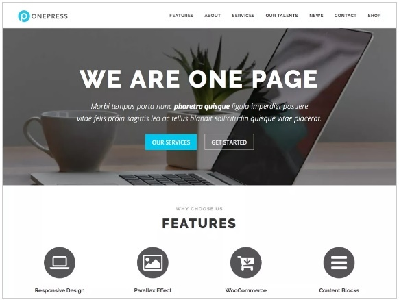 WordPress Themes: OnePress