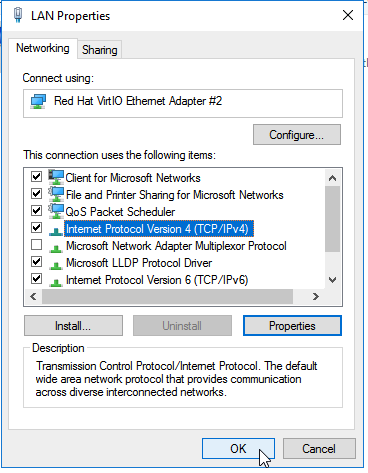 Windows Server 2016 - Static IP